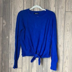 Olivaceous Cashmere Blend Tie Sweater
